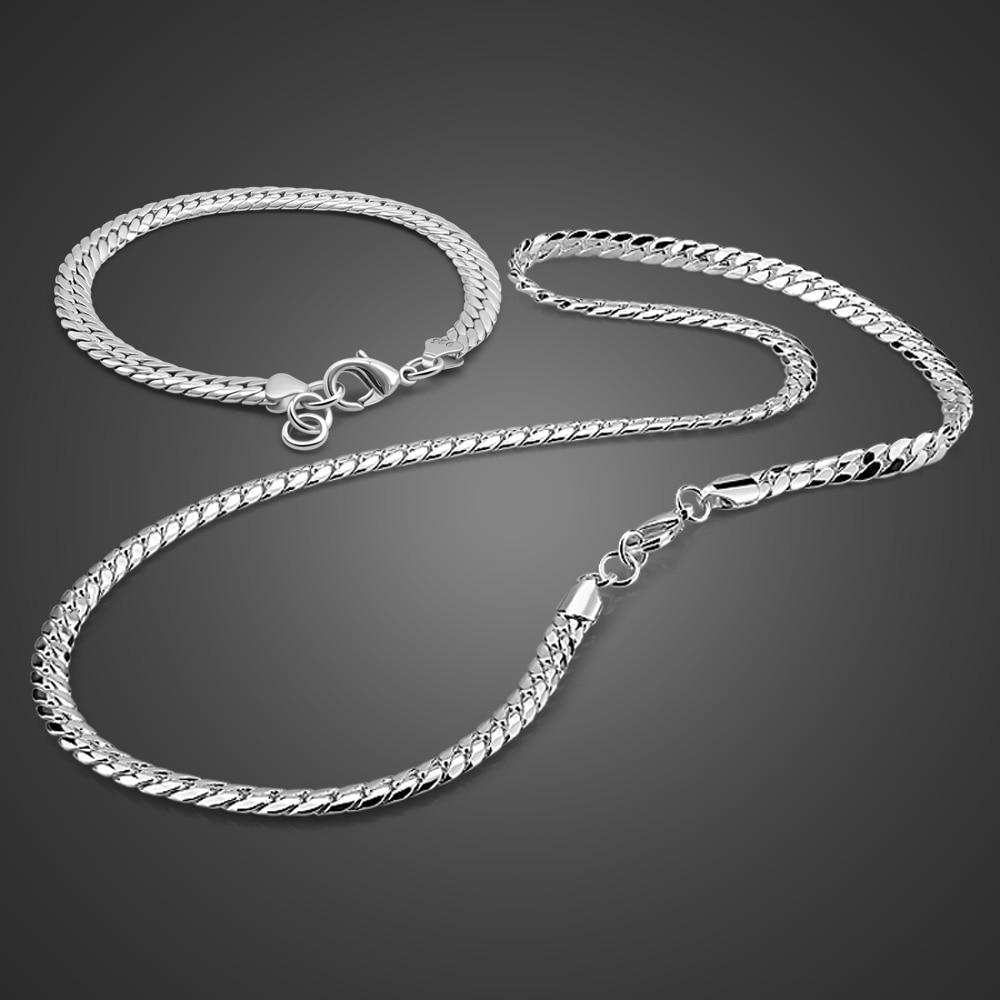 Mode garçon argent collier/Bracelet ensemble 925 en argent Sterling collier cheval fouet conception argent chaîne solide argent chaîne bijoux