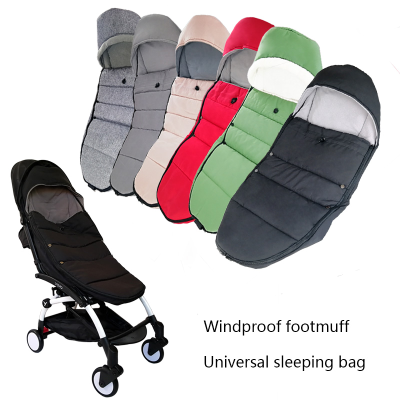 Universal Baby Carriage Winter Socks Sleep Bag Windproof For Yoya Yoyo Stroller Warm Footmuff Cover Baby Stroller Accessories