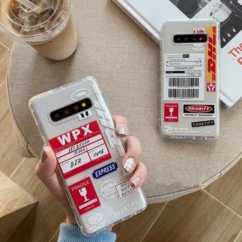 DCHZIUAN, funda de teléfono blanda de TPU a prueba de golpes para Samsung Galaxy Note 10 9 8 S10 S8 S9 Plus, funda transparente con estampado de letras