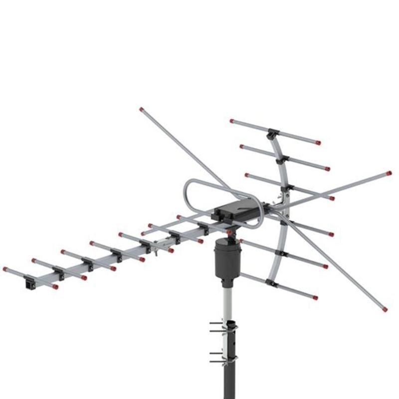 TV Antenna 360 Degrees Rotation UV VHF 45-230MHz / UHF 470-860MHz 15-22dB Outdoor TV Antenna Receiver Accessories