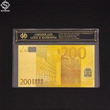 Banknoty Euro Euro 200 papierowe pieniądze rachunek światowy banknot w plastikowy rękaw