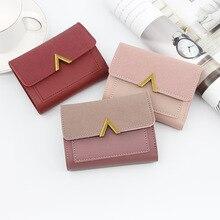 Women Purse Vintage Small Short Leather Wallet Luxury Brand