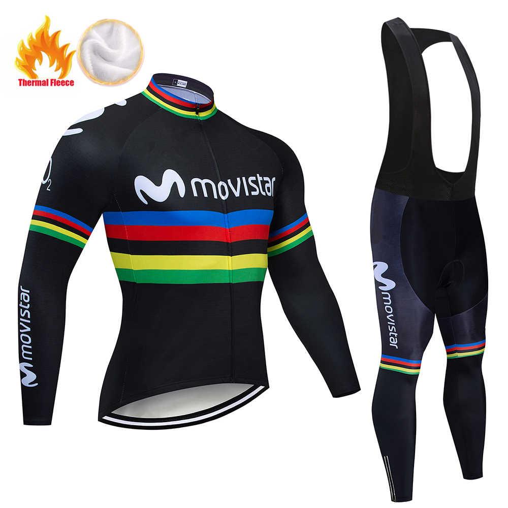 2019 MAVIC Cycling Clothing Suit Winter Thermal Fleece Cycling Jersey Set Racing