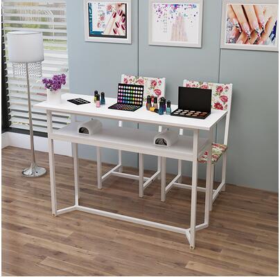Стол для маникюра, одиночный двойной стол для маникюра, специальная цена, экономичный простой современный стол для маникюра и стула - Цвет: 140CM