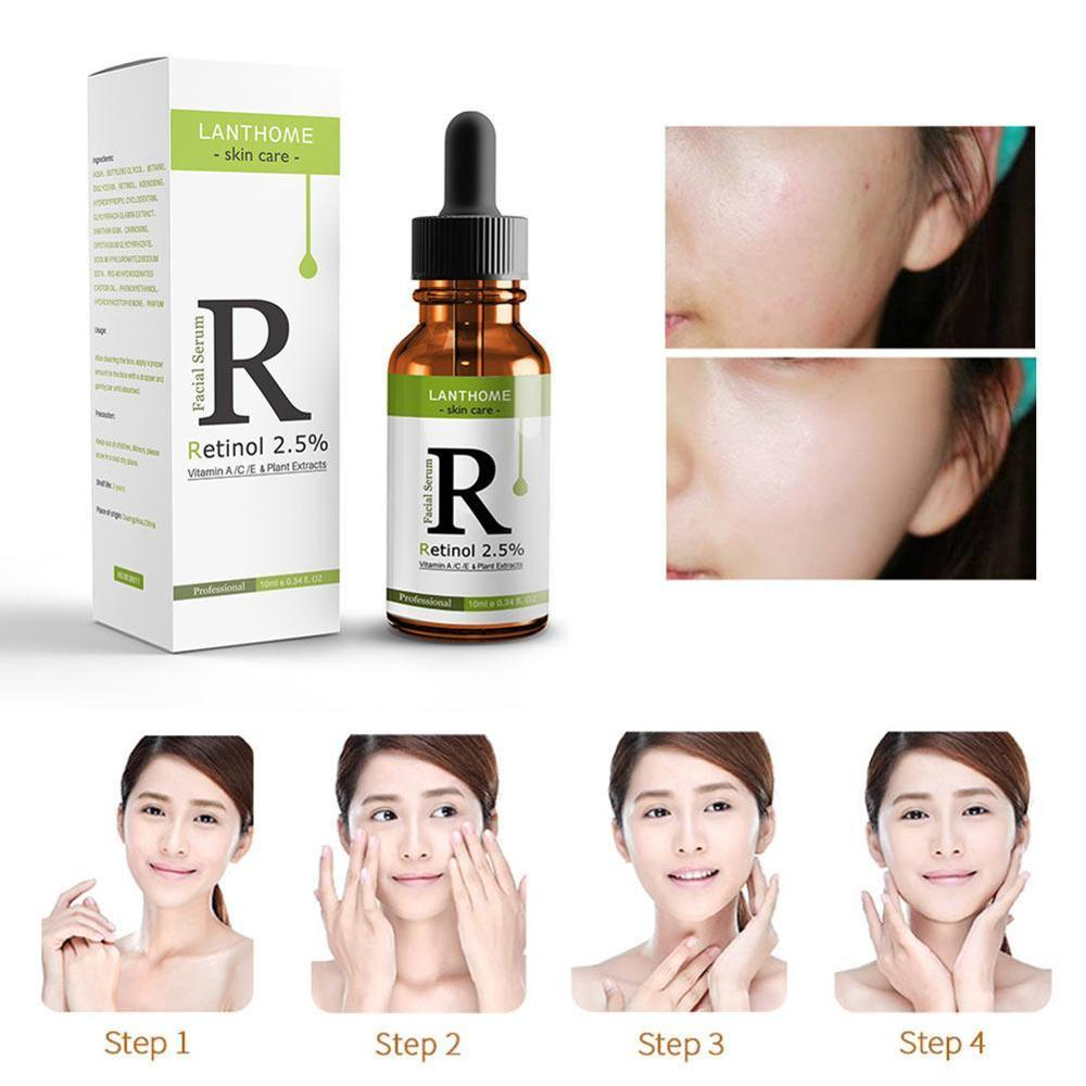 Face Serum Vitamin C Retinol 2.5% Serum Firming Repair Skin Anti Wrinkle Anti Acne Anti Aging Serum lifting Skin Care