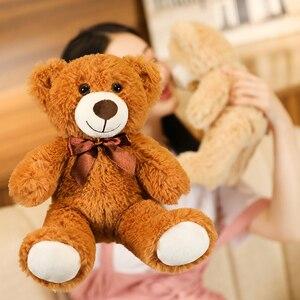 Image 5 - Juguete de alta calidad para niños, 1 unidad de 25/35cm, dibujo de osito de felpa, peluches, muñeco de oso, regalo de cumpleaños para niños