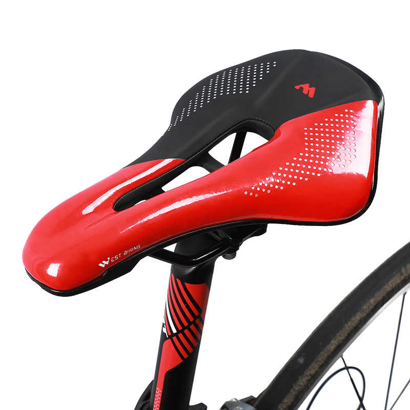 Reflective Shock Absorbing Hollow Bicycle Saddle Mountain Bike Seat