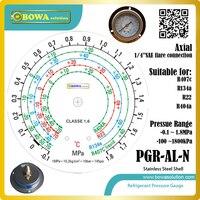 0.1 ~ 1.8MPa miernik niskiego ciśnienia czynnika chłodniczego z osiowym kołnierzem przednim służy do instalacji R134a  R407c  R404a i R22 w Części do nagrzewnicy wodnej i pompy ciepła od AGD na