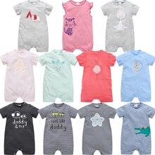 Honeyzone/комбинезоны для новорожденных девочек с короткими рукавами, хлопок, мягкая детская одежда с рисунком, летняя детская одежда