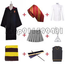Free Shipping Granger Cosplay Clothing Harris Robe Cloak Skirt Sweater Shirt Scarf Tie Wand Necklace Potter Costume Dropshipping