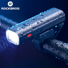 Rockbros Bike Koplamp Regendicht Usb Charge Mtb Fiets Voorlamp Fietsen Ultralight Zaklamp Outdoor Night-Rijden Apparatuur(China)
