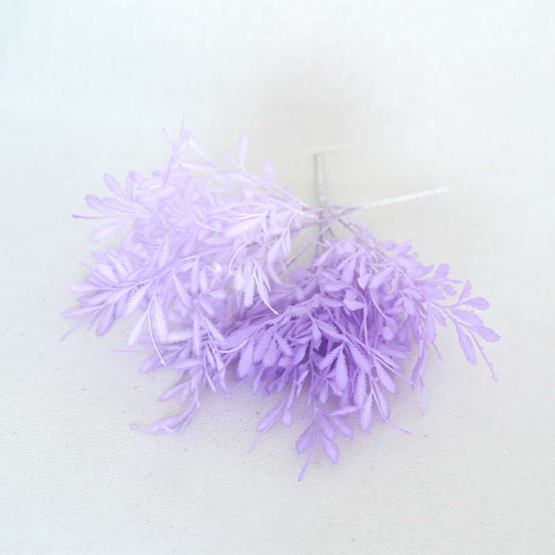 2PCS Purple Plastic Flower Bouquet Wedding Birthday Party Decoration Newborn Photography Props Artificial Flower