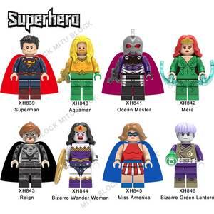 NEW MINIFIGURES lego MOC Super Heroes Superman Aquaman Ocean Master Mera Reign B