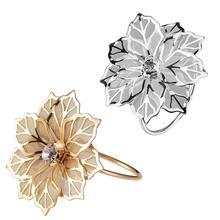 Кольца для салфеток с полым цветком для вечеринок, дней рождения, свадеб, семейных встреч, Рождества и других вечеринок