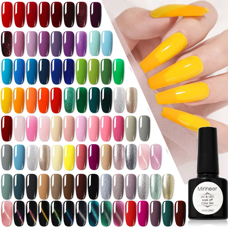 УФ гель лак для ногтей светодиодный Полупостоянный Лаки Mirineer все для маникюра Блестящий Матовый базовое, топовое покрытие цветной