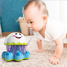 Electric Jellyfish Light Music Story Infant Educational Toy For Kids New Intelligent Robot Funny Toys With Lighting For Baby(China)