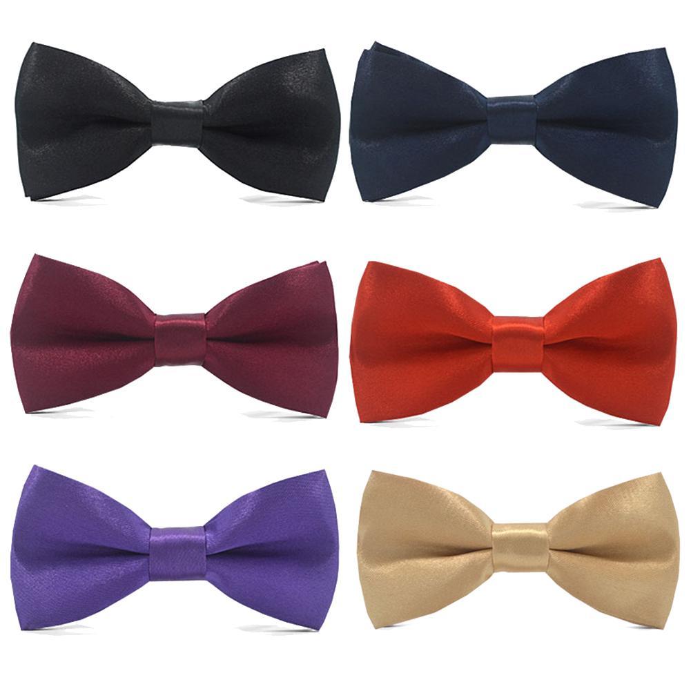 Solid Color Adjustable Necktie Bowtie Men Boy Kids Bow Ties Necktie Men's Bow Tie Baby Children Ties Cravate Photography Props