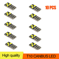10Pcs T10 Led Canbus W5W Led Bulbs 168 194 Car Interior Lights Auto Signal Lamp Dome Reading License Plate  Side Wedge Light 12V