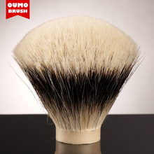 OUMO BRUSH SHD WT Finest two band shaving brush knots