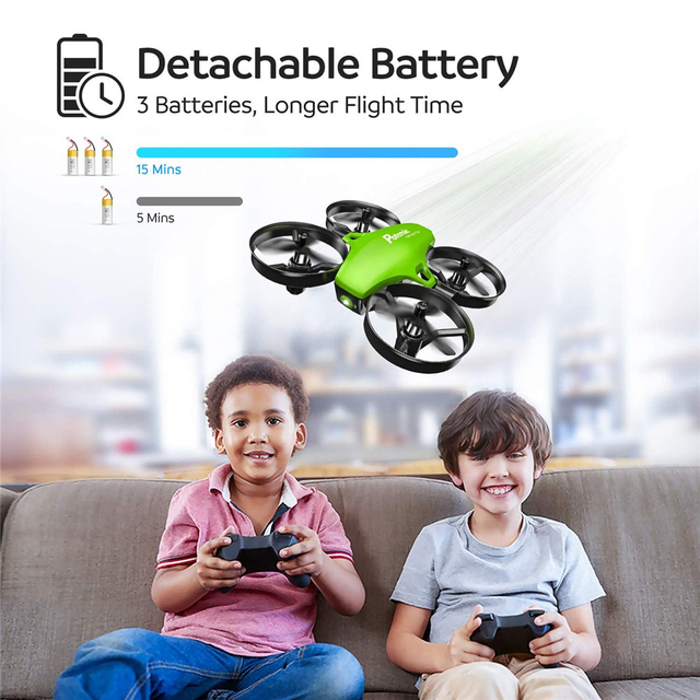 Potensic A20 Mini Drone for Kids Beginners Easy to Fly Headless Mode RC Helicopter Quadcopter Remote Control With 3 Batteries 2