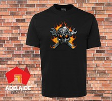 High Quality Jbs T-Shirt Cool Mechanic Skull Retro Flame Style Sizes Up To 7xl(China)
