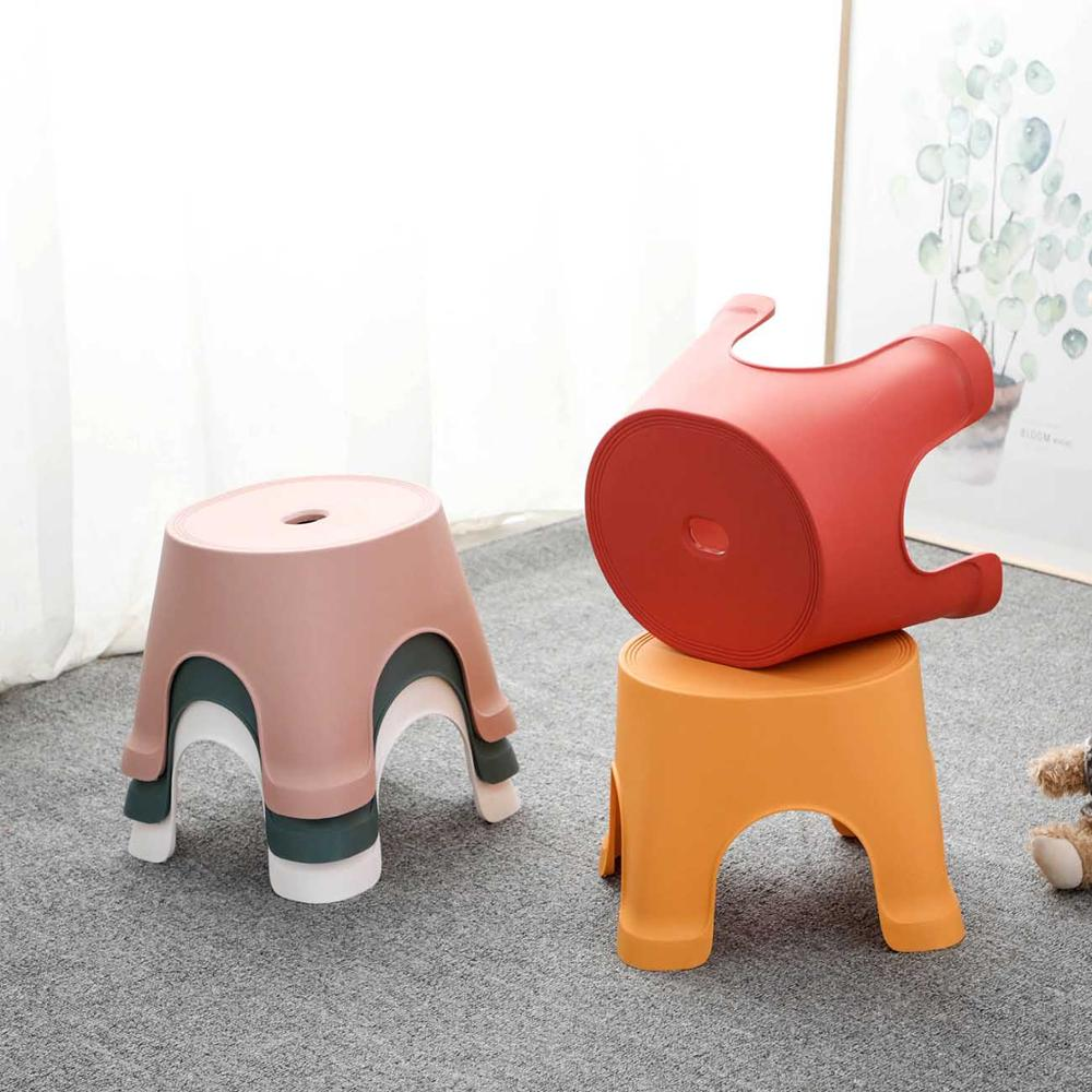 1PC Plastic Thicken Square Stool Living Room Non-slip Change Shoe Bench Kindergarten Kids Child Study Stool