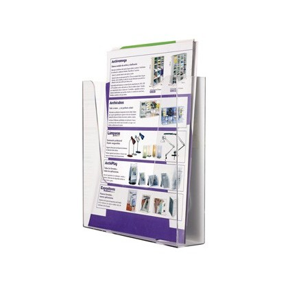EXHIBITOR MURAL ARCHIVE 2000 METACRILATO DIN A4 TRANSPARENT 225X50X244 MM A COMPARTMENT