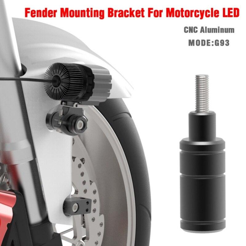 2pcs Folding Adjustable Motorcycle Headlight Bracket Mount Bike Sport Tail Light Holder Fender Eliminator