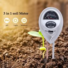 цена на 3 in 1 Soil Water Moisture Light PH Meter Tester Digital Analyzer Test Detector for Garden Plant Flower Hydroponic Garden Tool