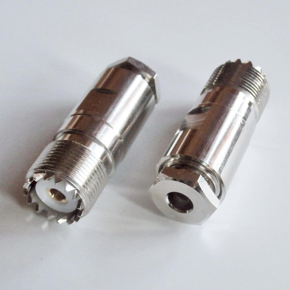Разъем PL259 SO239 UHF Женский зажим припой для RG58 RG142 RG223 RG400 LMR195 50-3 Кабель Латунь RF коаксиальный адаптер