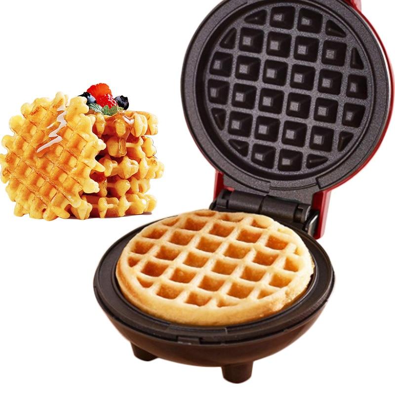 Multifunction Mini Waffle Maker Electric Doughnut Ice Cream Cone Grill Cake Oven Pan Eggette Machine Plates US EU Plug(China)
