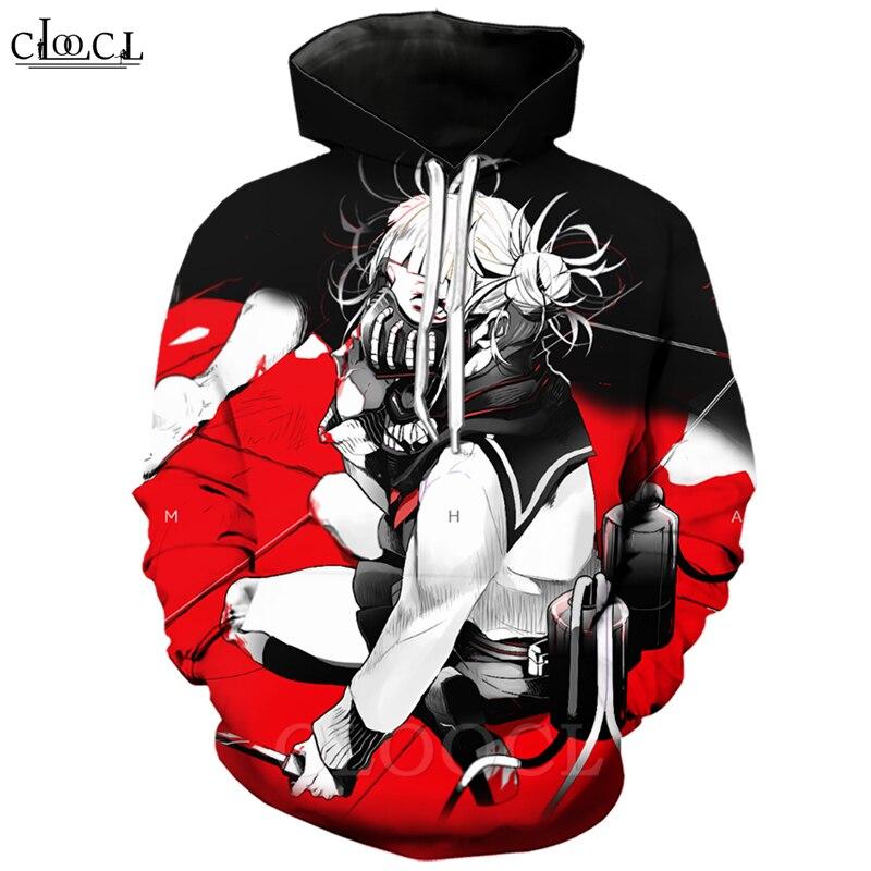 Anime My Hero Academia Hoodies Men Women 3D Print Long Sleeve Men Hoodie Himiko Toga Casual Streetwear Tops B363