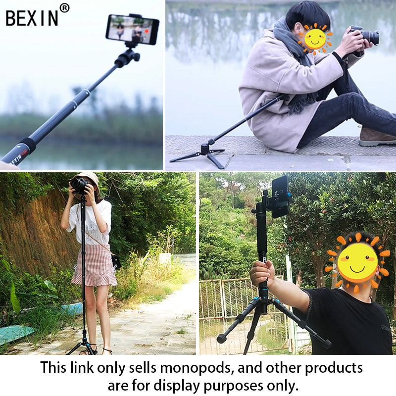 BEXIN Tripod monopod camera stand stick monopod dslr portable lightweight camera monopod video support for camera dslr in Tripods from Consumer Electronics