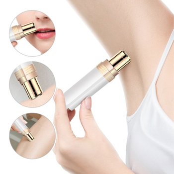 New Design Mini Trimmer Hair Removal Instrument 2 Colors Electric Ladies Lipstick Shaver Body Facial Epilator Hair Removal Razor 2017 hot sale ladies rechargeable cordless electric tweezers body facial hair removal remover epilator trimmer