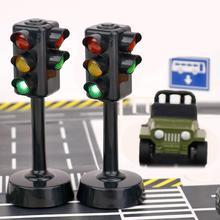 Мини-светильник с дорожными знаками, скоростная камера, модель с музыкой, светодиодный, обучающая игрушка для детей, идеальный подарок на день рождения, праздники