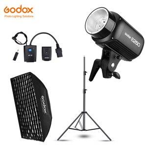 Image 1 - Godox E250 250Ws fotografia błyskanie studyjne światło stroboskopowe + 50x70 cm Gird Softbox + 180cm lekki statyw + AT 16 Trigger Flash Kit