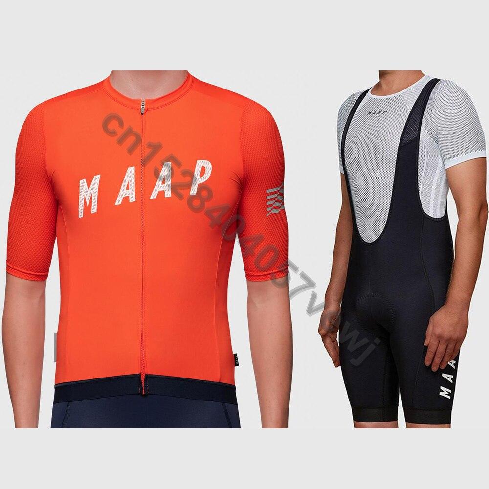 Mens Red Cycling Jersey And Bib Short Set Road Bike Team Mens Cycling Short Set
