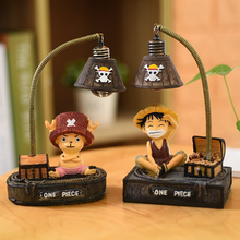 Cartoon LED Night Lamp Luffy Joe Japanese Anime Toys Small Lights Resin Ornaments Crafts Creative Light Gift