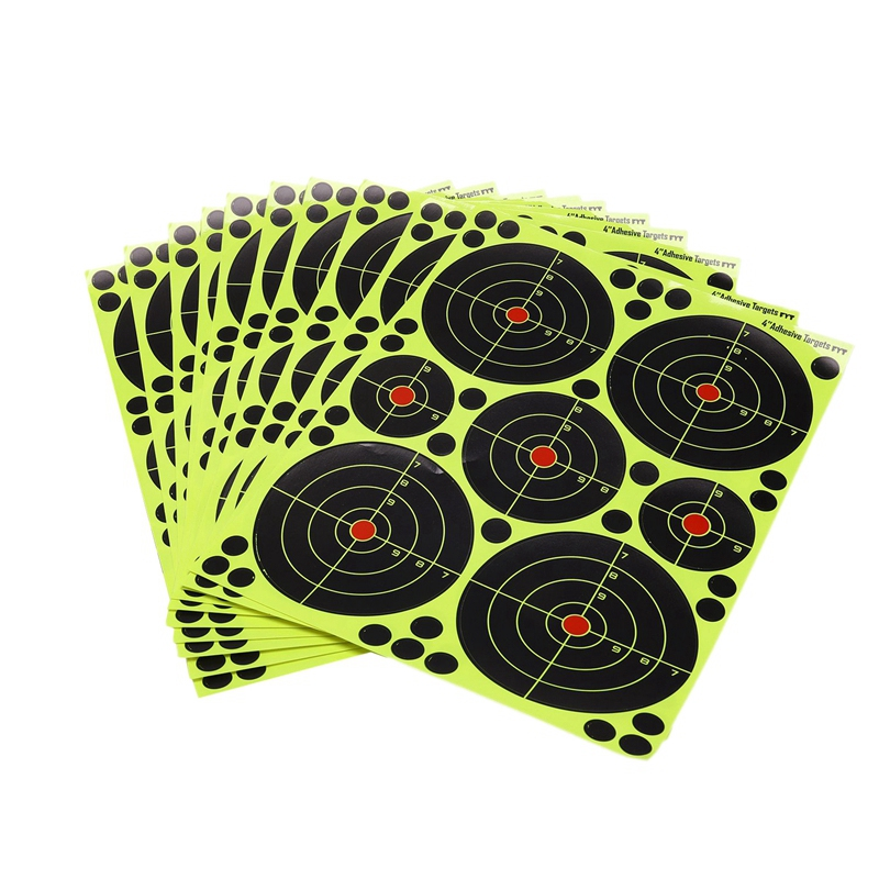 10 Sticks Per Pack Splash Flower Target Multi-Model Combination Adhesive Reactivity Fireing Target For Hunting