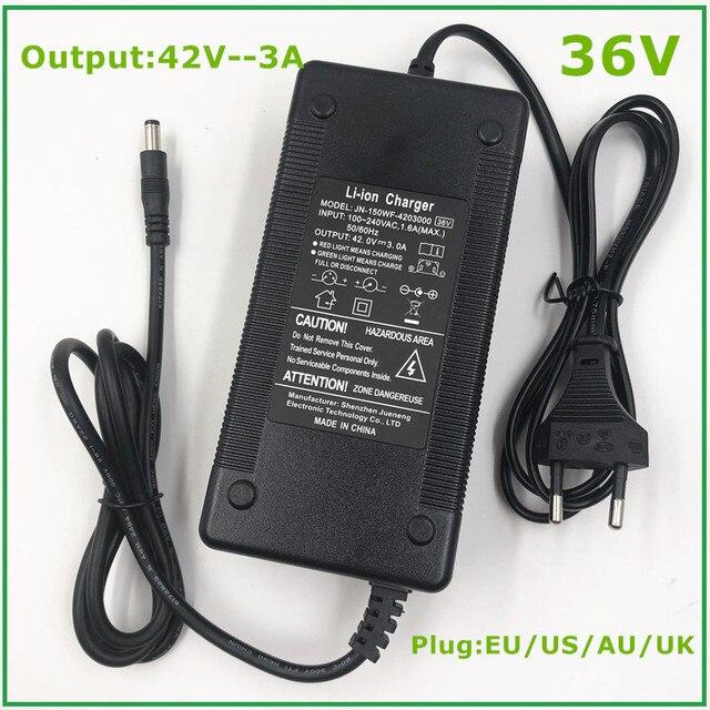 36 В 3 А Выход зарядного устройства 42 в 3 А Вход зарядного устройства 100 240 В переменного тока литий ионный литий поли зарядное устройство для 10 серии 36 В электровелосипеда