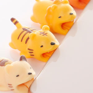 Bites-Protector Phone-Holder-Accessory Buddies Animal-Cable iPhone 1pcs for Protege Cartoon