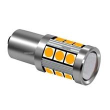 1PCS Samll Size PY21W 7507 BAU15S 1156PY 150 Degree 15 SMD 3030 LED Auto Turn Signal Lamp Car Direction Indicator Light Yellow