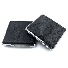 Smoking-Case 20-Cigarettes Smoke-Storage-Box Man Gift Metal Portable for PU 1pcs