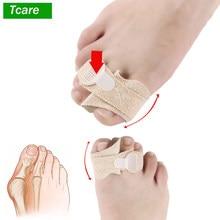 Tcare 1 sztuk Toe Finger prostownica mężczyźni kobiety palec młotowaty palucha koślawego korektor bandaż Separator palców stopy szyna Wrap krzywy Toe