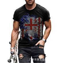 2021 hot style men's T-shirt, European and American 3D printed short-sleeved casual wear, factory direct sales