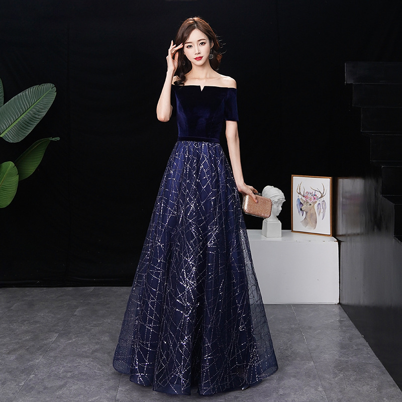 2020 Sale Cocktail Dress End Evening Dress Women's New Fashion Spring Festival Meeting Sexy And Noble Slim Banquet