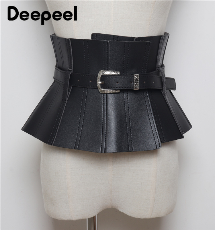 Deepeel 1pc 19.5cm*80cm  New Women Corset Belt Leather Accessories Women Cummerbunds Belts Removable Wide Waist Belts YK706