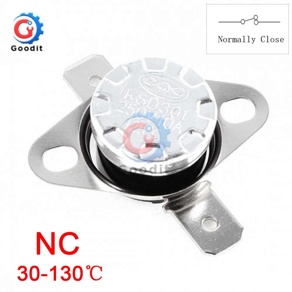 KSD301 250V 10A Normaal Open/Normaal Sluiten GEEN Thermostaat Temperatuur Thermische Schakelaar DegC 30-130 Celsius graden