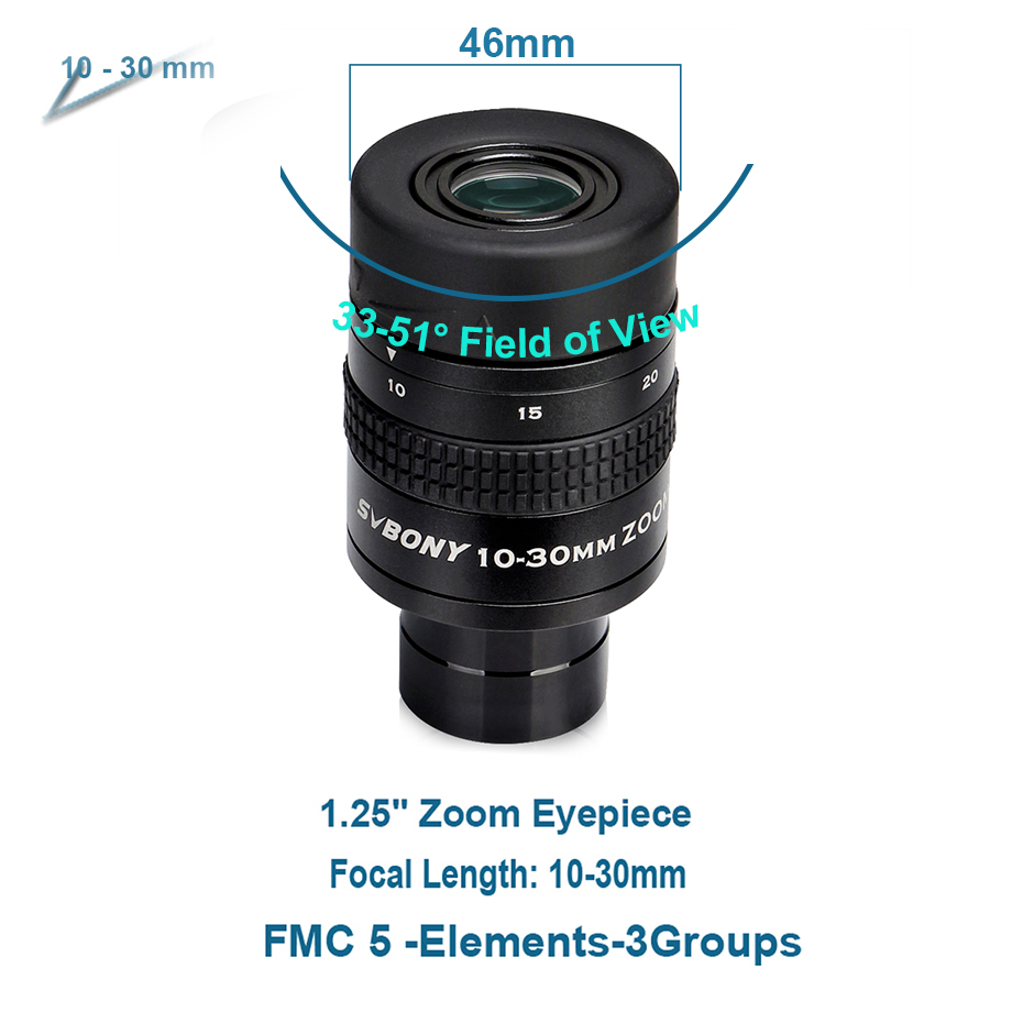 lowest price SVBONY 1 25inch Zoom Telescope Eyepiece 7-21mm 8-24mm 10-30mm Full Metal Barrel and Broadband Multicoating W9130A