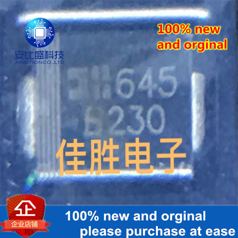 50pcs 100% New And Orginal 0B230-13-F 2A30V Low-pressure Schottky Diode DO214AA Silk-screen B230  In Stock